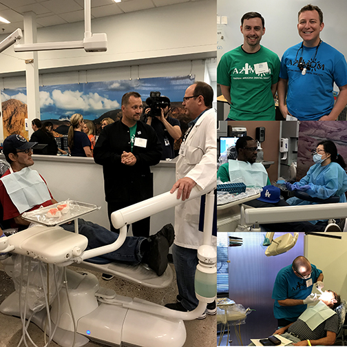 collage of images of veterans being served at Rio Salado's Dental Clinic