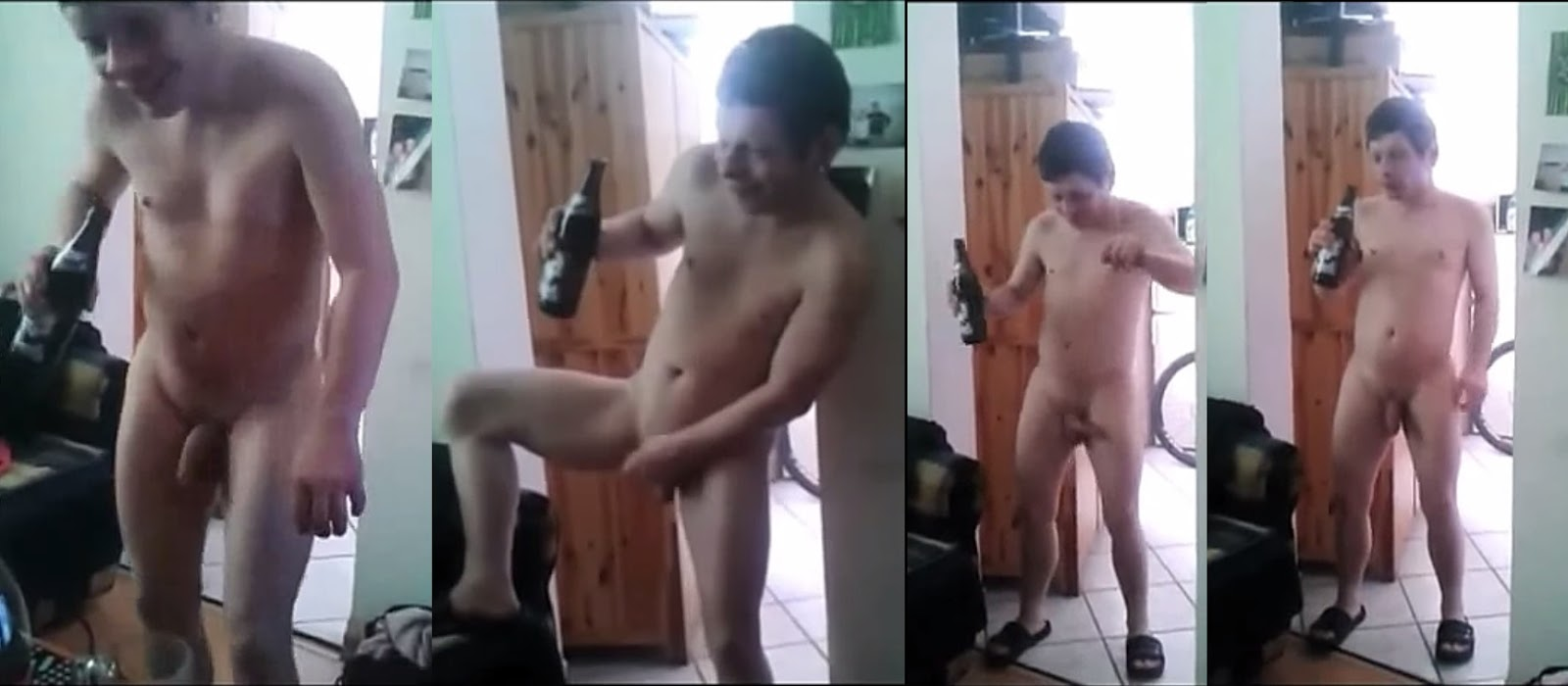 drunk punk showing cock