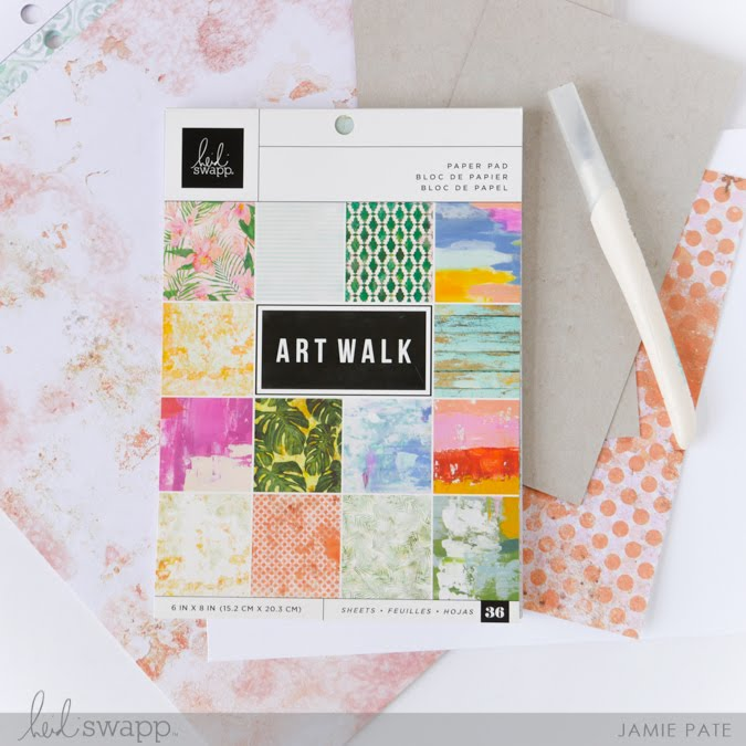 Creating Handmade with Heidi Swapp Art Walk Collection by Jamie Pate