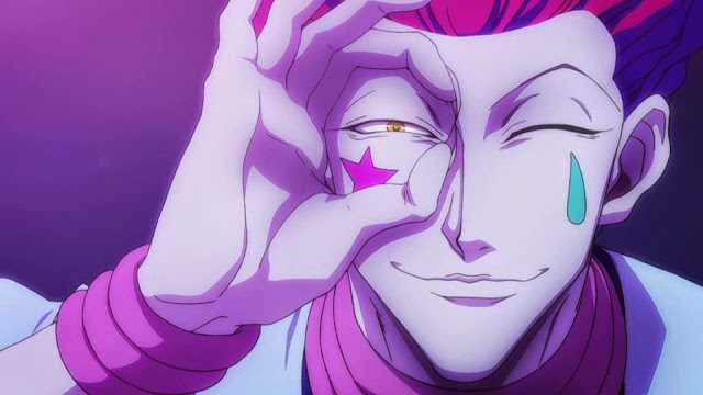 wallpaper hunter x hunter hisoka finger binoculars