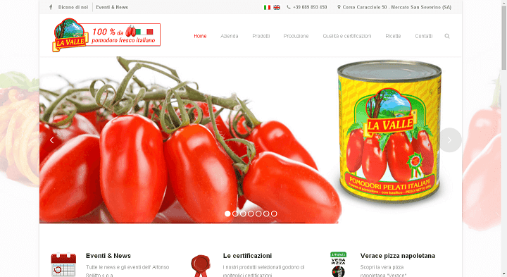 Picture to Italian food exporter company named Selitto Spa