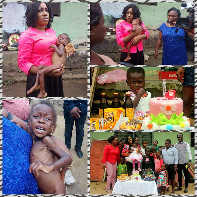 Malnourished child rescued alongside teenage mother in Cross River State Nigeria.