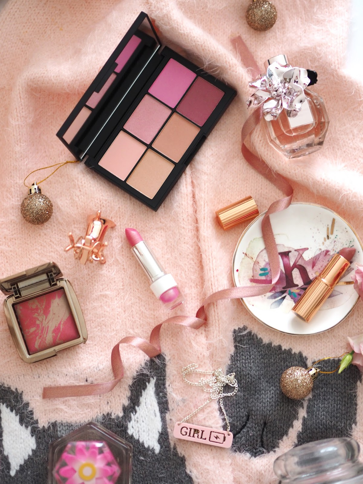 The Pink Gift Guide, Katie Kirk Loves, UK Blogger, Beauty Blogger, Christmas, Christmas Gifts, Gift Guide, Gift Ideas, Beauty Gifts, lifestyle, Luxury Gifts, Pink Gifts, Pink Make Up, Pink Accessories, Pink Lover, Anthropologie, Yumi Clothing, Cat Scarf, Accessorize, Charlotte Tilbury, Viktor & Rolf Flower Bomb, Etst Shop, Cult Beauty, Debenhams Beauty, Hourglass Cosmetics, Becca Cosmetics, Lush Cosmetics, Snow Fairy, Bluebelle & Co, House of Disaster, Disaster Designs, Spectrum Collections, Oasis Fashion, Rose Gold, Nails Inc, Incredible Cosmetics, Yankee Candle, Snowflake Cookie