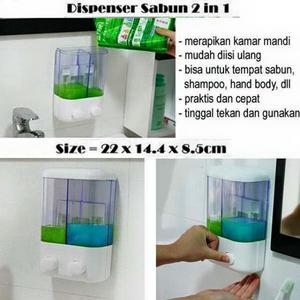 jual barang unik murah surabaya, harga barang unik, toko online barang unik surabaya, jual dispenser sabun cair 2in1, jual perlengkapan kamar mandi
