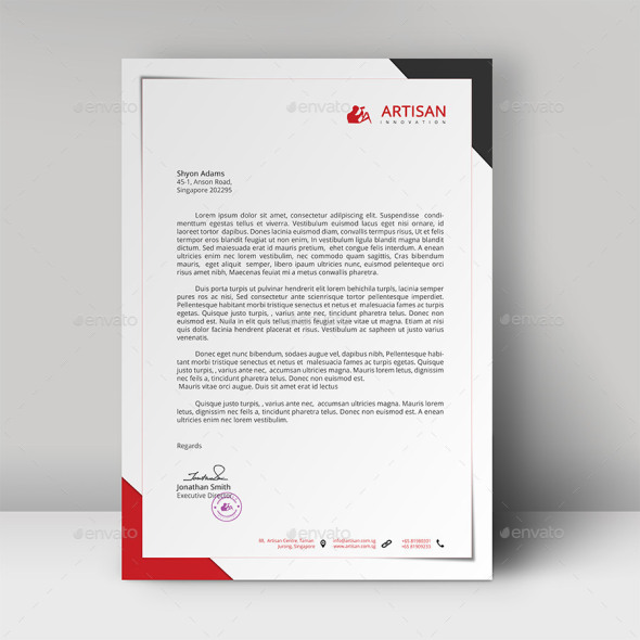40 free premium letterhead templates in multiple formats. Black Bedroom Furniture Sets. Home Design Ideas