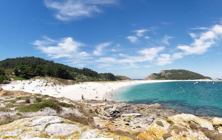 Praia de Rodas nas ilhas Cíes