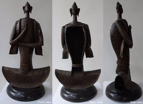 Buddha, bronze sculpture by Chandan Roy (part of his portfolio on www.indiaart.com)