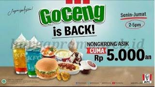 Promo KFC Goceng Kembali Lagi, Berlaku Hingga 31 April 2019, Buruan Jangan Kelewat!