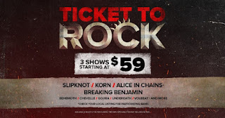 Artists Revealed for Ticket to Rock including Slipknot, Alice in Chains, Breaking Benjamin, Korn, Slipknot and More