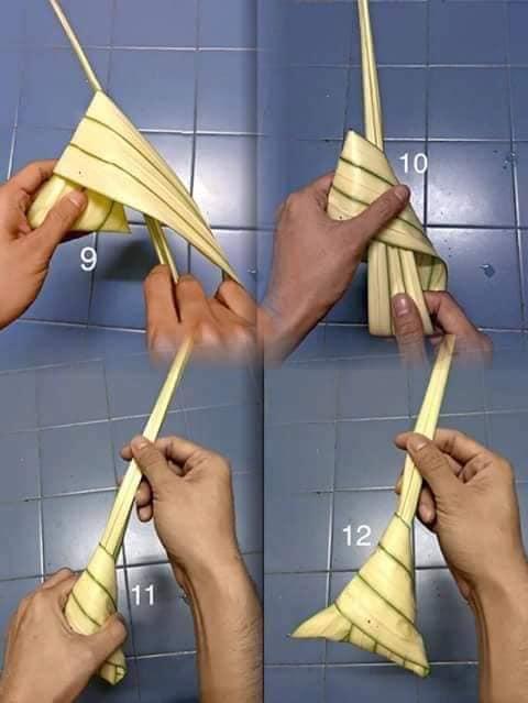 cara balut daun ketupat palas