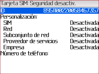 Seguridad Sim blackberry