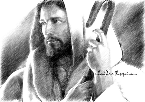 Jc01 jesus christ pencil sketch art
