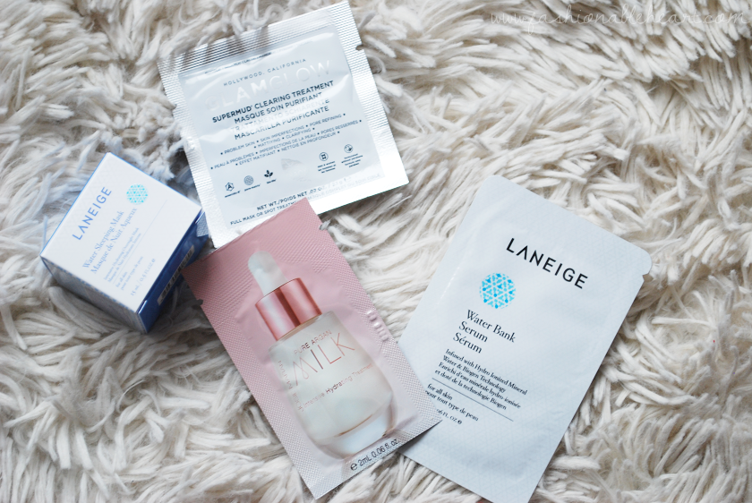 bbloggers, bbloggersca, canadian beauty bloggers, 2016 boxing day, sephora, haul, sale, deals, samples, laneige water sleeping mask, water bank serum, josie maran argan milk, glamglow mud treatment
