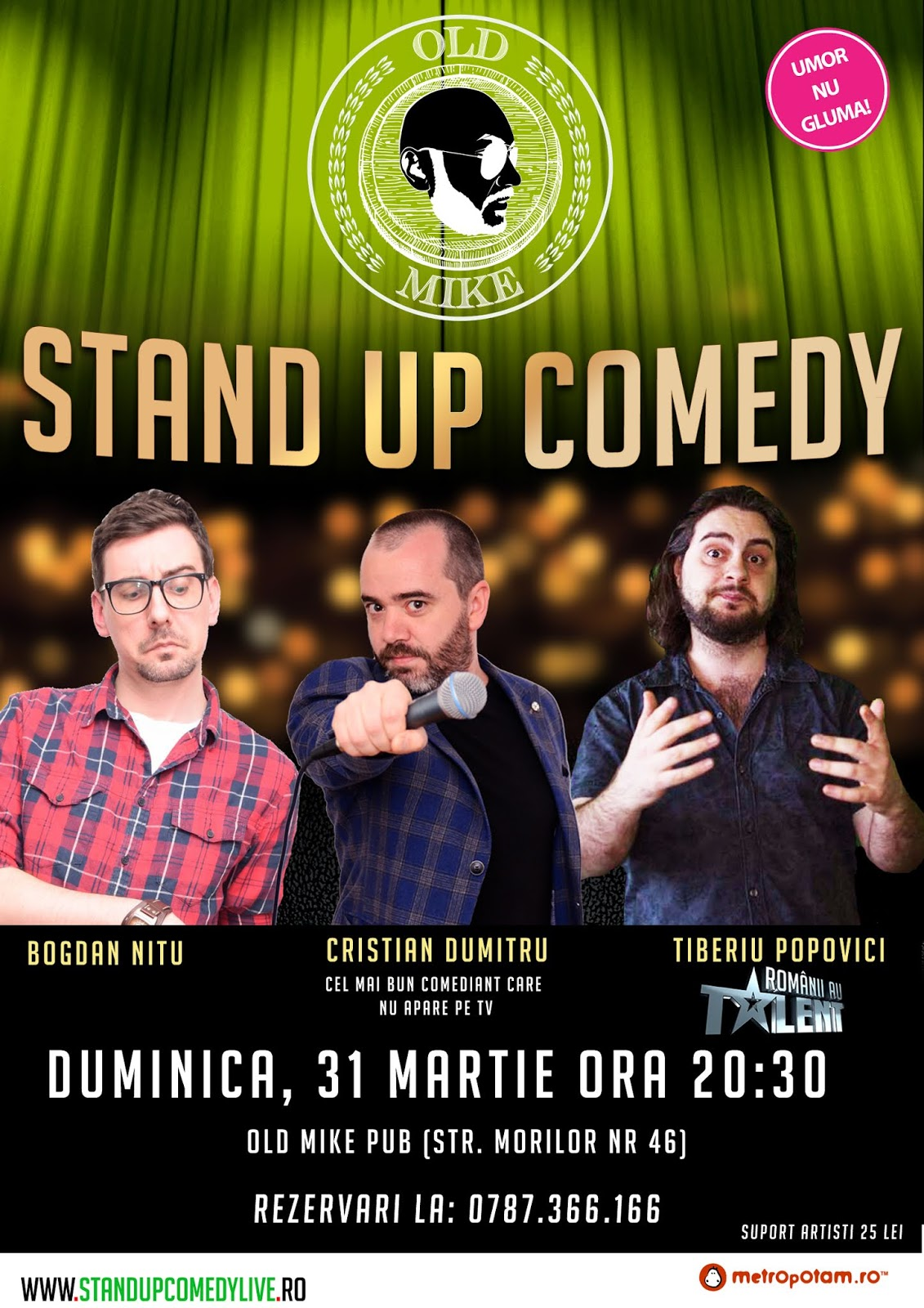 Stand-Up Comedy Bucuresti Duminica 31 Martie 2019