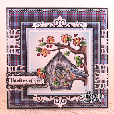 Our Daily Bread Designs Stamp Set: Birdhouse, Our Daily Bread Designs Paper Collection: Boho Bolds, Our Daily Bread Designs Custom Dies:Pierced Squares, Squares, Pierced Rectangles, Trellis Strip Die, Filigree Frames
