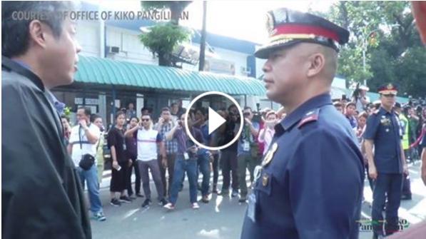 WATCH: Kiko Pangilinan Galit na Galit dahil Di siya Pinapasok ng mga Pulis sa Camp Crame