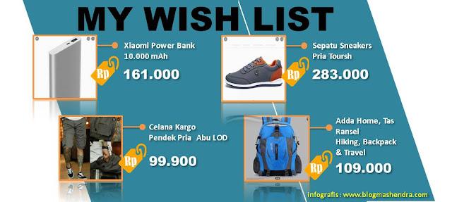 Wish List Barang di Lazada Untuk Keperluan Traveling - Blog Mas Hendra