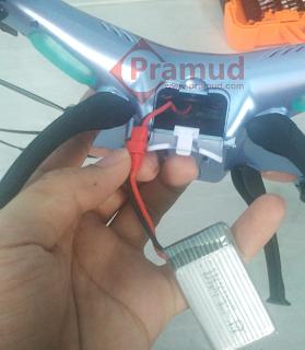cara membongkar drone syma X5HW yang rusak - pramud.com