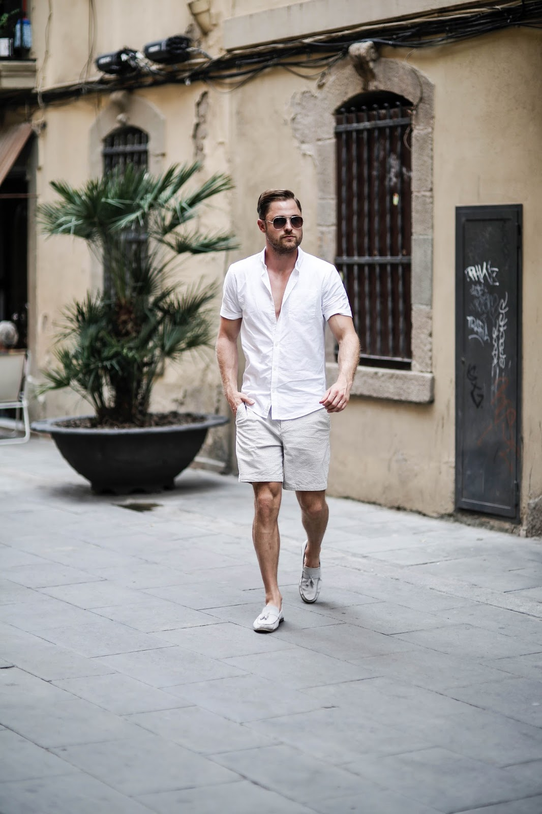 River Island Shirt Abercrombie & Fitch Shorts