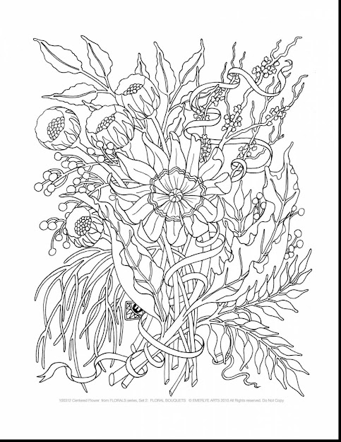 Beautiful Printable Adult Coloring Pages With Plicated Coloring Pages  And Plicated Flower Coloring Pages