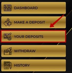 Досрочный вывод депозита в RoyalCoin