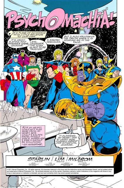 Thanos sentado pensando que hacer