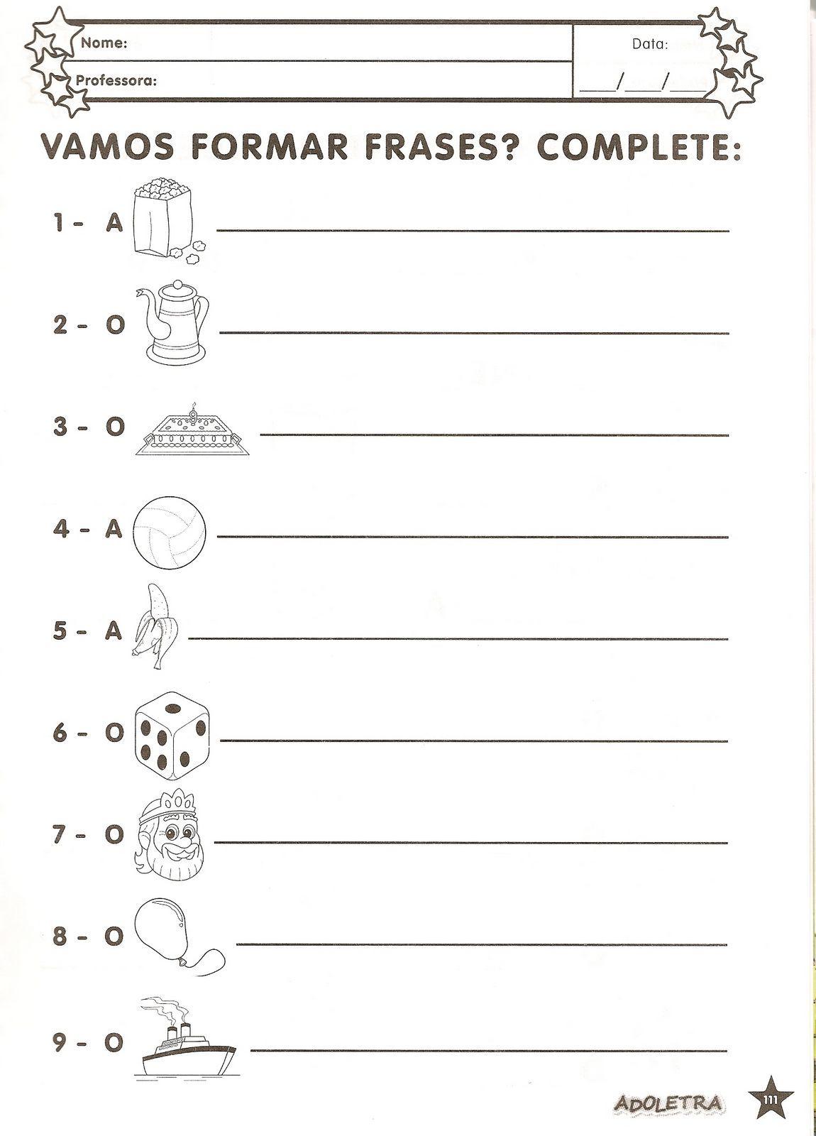40 Atividades De Alfabetização Ou 1º Ano Espaço Educar