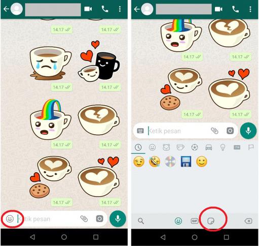 Cara Menambahkan Stiker Di Chat Obrolan Whatsapp Terbaru Tanpa Aplikasi Tambahan