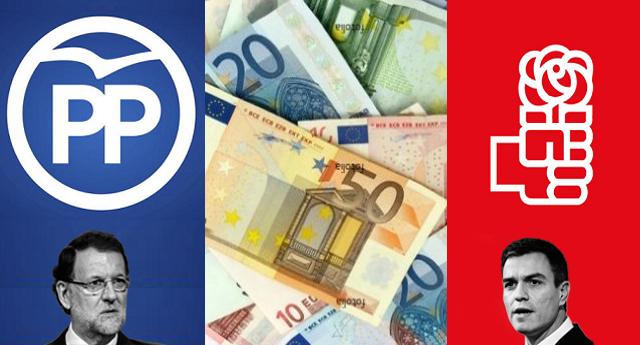 PP y PSOE deben a la banca más de 100 millones de euros