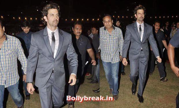 Hrithik Roshan, Bollywood Celebs Style Check at Mumbai Police Umang 2014