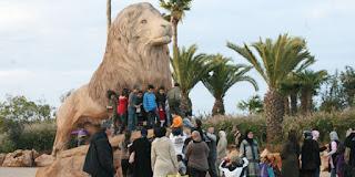 patung singa dari Atlas