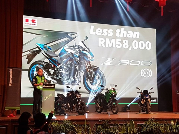 Harga Z900 di anggarkan RM58,000