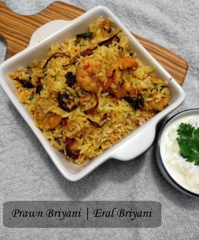 Prawn Briyani | Eral Briyani | Shrimp Briyani