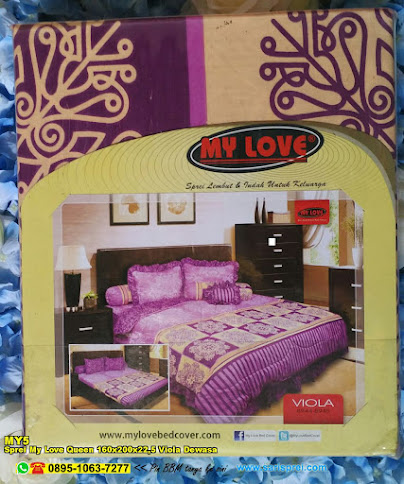 Sprei My Love Queen 160x200x22,5 Viola Dewasa