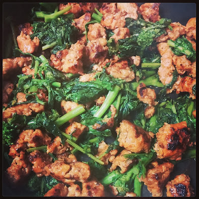 Spicy Italian Sausage and Sauteed Broccoli Rabe | Taste As You Go