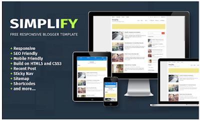 SIMPLIFY | Template Blog Responsive Dan Fast Loading Dari Arlina Design