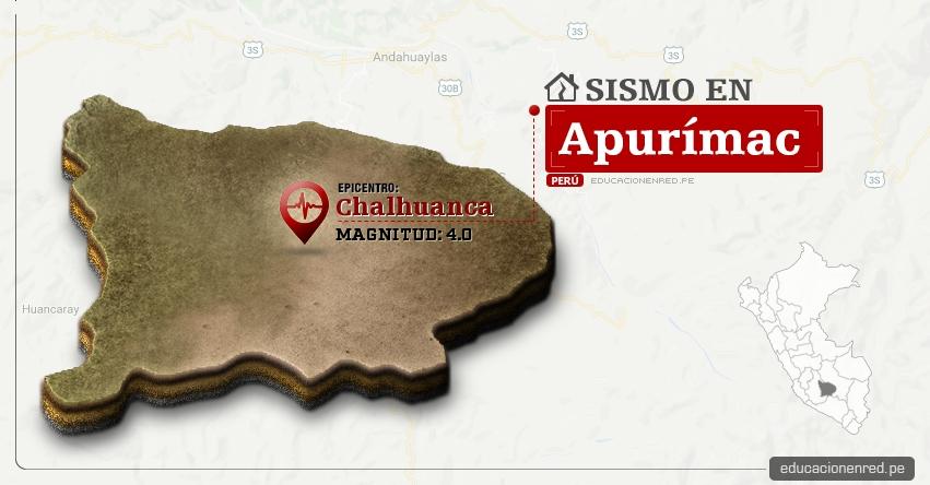 Temblor en Apurímac de 4.0 Grados (Hoy Lunes 5 Junio 2017) Sismo EPICENTRO Chalhuanca - Aymaraes - IGP - www.igp.gob.pe