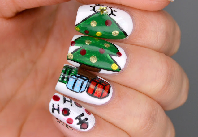 Christmas Tree Puzzle Nail Art