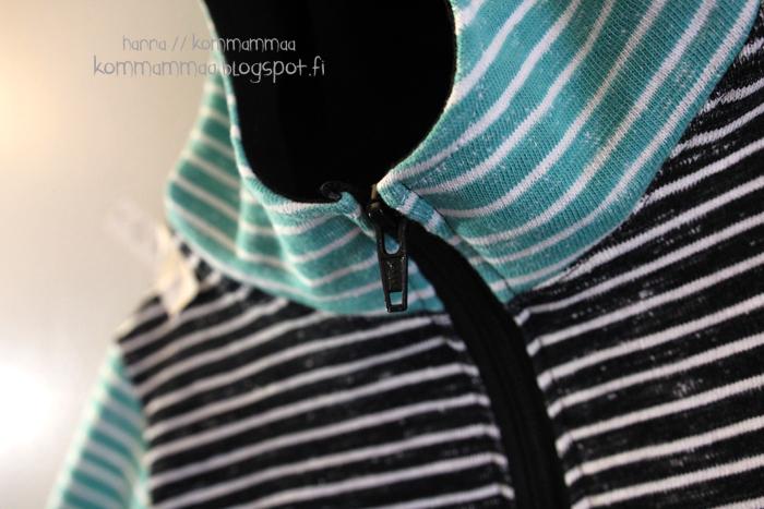 collegetakki musta aqua valkoinen nosh pippuricollege ottobre ob 6/2012