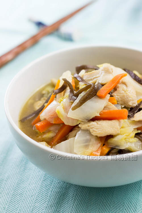 紹菜雞片 Braised Chinese Cabbage with Chicken01