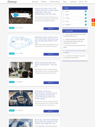 Landing Page dịch vụ cung cấp phần mềm bán hàng gimasys.com