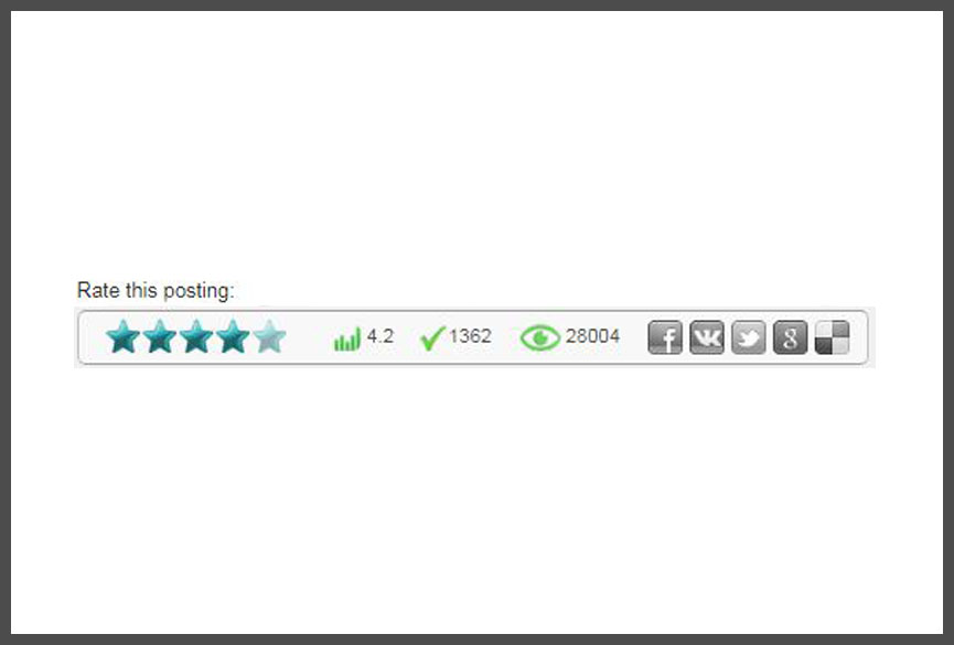Cara Membuat dan Memasang Widget Rating Bintang di dalam Postingan Blogger