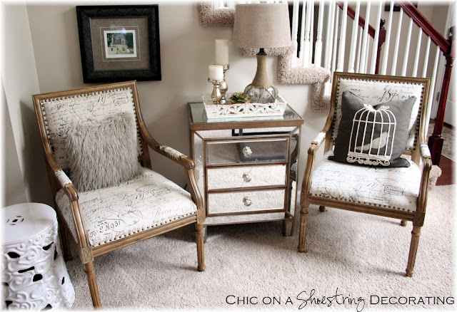Chic on a Shoestring Decorating blog, Marias Arm Chair