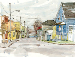 town urban drawing sketchers watercolor towns pen shari ink blaukopf street paintings sketch sketchbook sketches wash urbansketchers watercolour drawings market