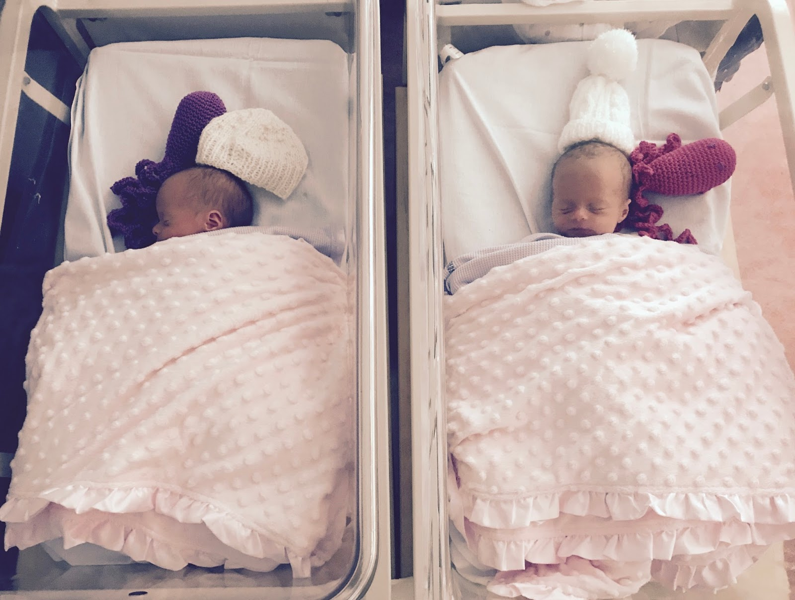 newborn identical twins in hospital