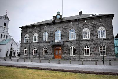 Icelandic parliament building in Reykjavik