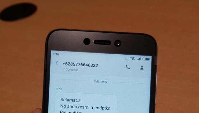 SMS Penipuan MoboIndosat