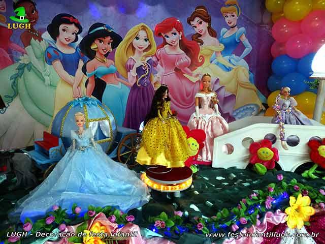 Decoração das Princesas - Aniversário infantil - Princesas Disney