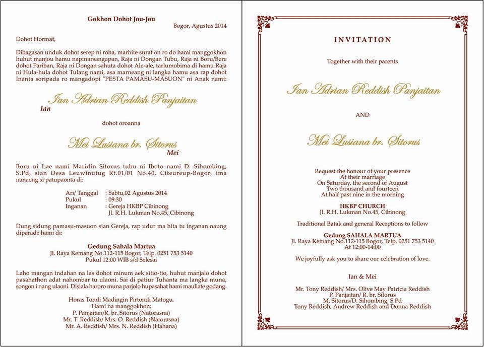 Kalimat Undangan Pernikahan Dan Format Undangan Pernikahan