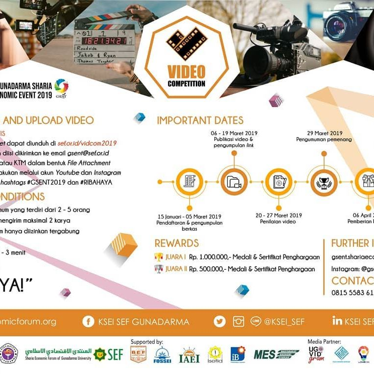 Lomba Video Gunadarma Sharia Economic (GSENT) 2019 Umum Gratis